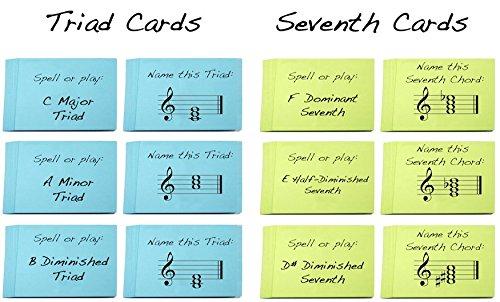Triad y s/éptimo Chord nombres Flashcard Sets gran aprendizaje triads y acordes de s/éptima 2/unidades