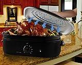 Oster CKSTRS18-BSB 18-Quart Roaster Oven with Self-Basting Lid, Black Finish