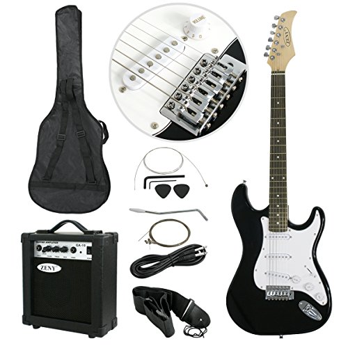zeny 39 full size electric guitar with amp case and accessories pack beginner starter package. Black Bedroom Furniture Sets. Home Design Ideas