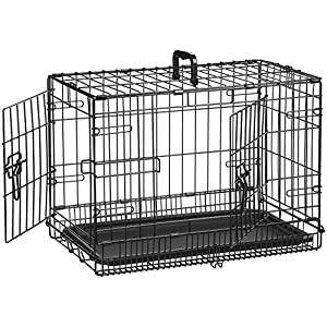 AmazonBasics Single-Door & Double-Door Folding Metal Dog Crate Kennel 14