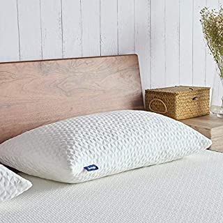 Sweetnight SN-P003-S Sleeping-Shredded Gel Memory Foam Removable Cooling Cover, Adjustable Loft & Neck Pain Relief Standard Pillows for Side/Back/Stomach Sleepers, White