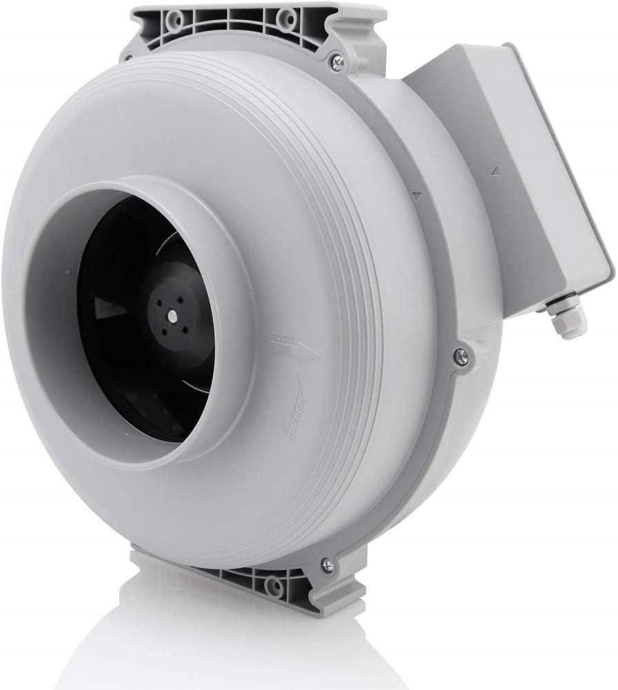 Hon&Guan Extractor de Aire Silencioso 200mm - 888m³/h Ventilador de Conducto Centrífugo para Oficina, Baño, Dormitorio, Hidropónico(Extractor Silencioso 200mm)