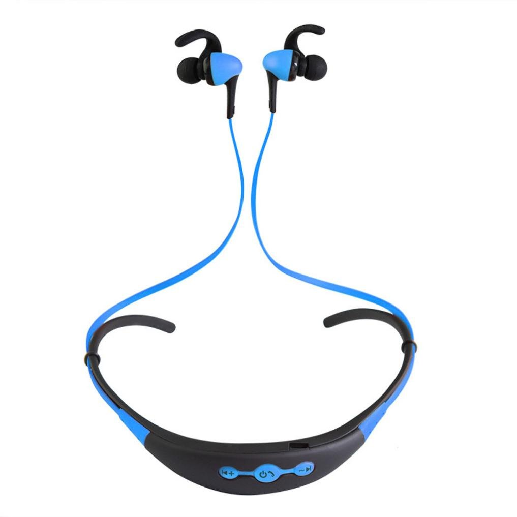 Leewa Bluetooth Wireless In-Ear Stereo Headphones Waterproof Sports Headphones Sky Blue
