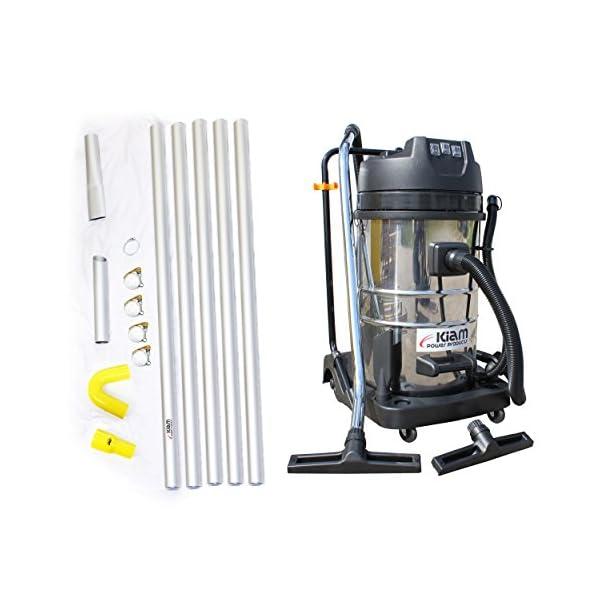 Kiam Gutter Cleaning System KV80-3 3600W Triple Motor Industrial Wet & Dry Vacuum Cleaner & Gutter Pole Kit (40ft (12m))