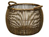 KOUBOO Large Open Weave Rattan Storage Basket