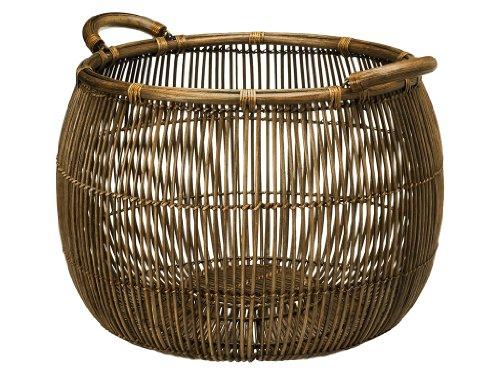 KOUBOO Large Open Weave Rattan Storage Basket by Kouboo