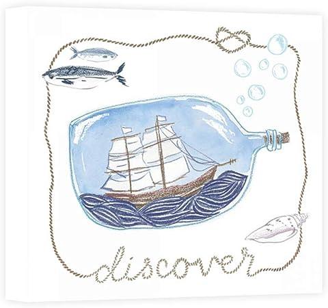 impresión Sobre Lienzo Wall Art zieve Miller Sara Ship de Botella A Discover: Amazon.es: Hogar