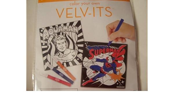 Amazon.com: DC Comics Justice League Velv-its ~ Set of 2 Velvet ...