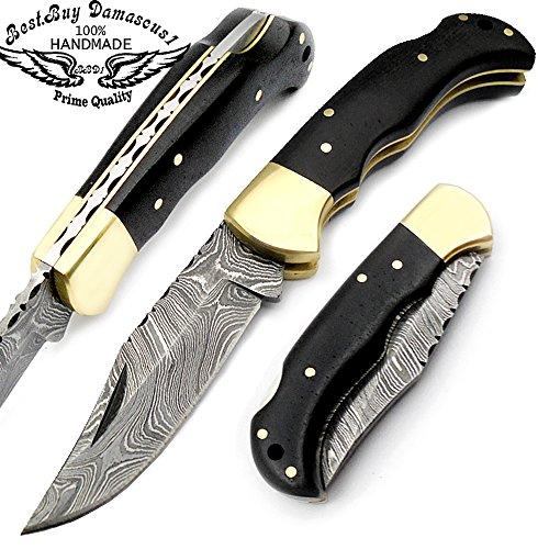 beautiful-black-micarta-65handmade-damascus-steel-folding-pocket-knife-with-back-lock100prime-qualit