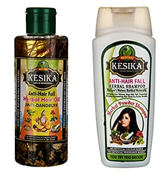 Amazon.com: Manishas Kesika Champú de hierbas anticaída (200 ...
