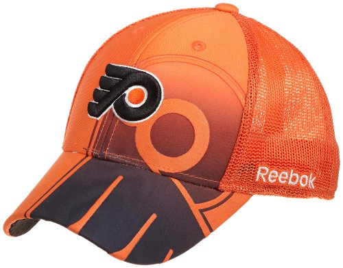 NHL Philadelphia Flyers Game Day Structured Flex Cap- Tx75Z, Orange, Small/Medium