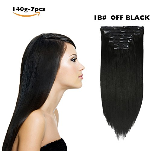 Clip in Hair Extensions Synthetic hair Clip in 140G 7Pcs/Lot