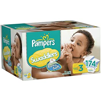 Pampers Swaddlers Diapers, Size 3, 174 Count