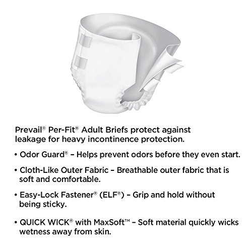 MCK12323100 - Adult Incontinent Brief Prevail Nu-Fit Tab Closure Large Disposable Moderate Absorbency Photo #2