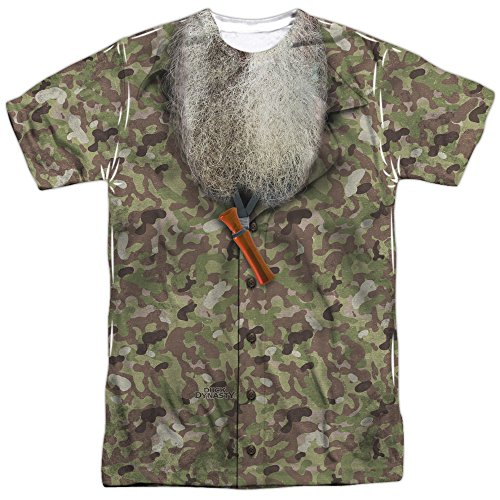 Duck Dynasty Camo Costume Unisex Adult Front Only Sublimated T Shirt for Men and Women