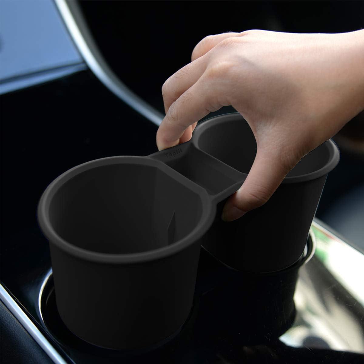 Topfit Model 3 Mittelkonsole Silikon Becherhalter Wasser Becherhalter Flaschenst/änder einsetzen Innenvordersitzbecher Organizer Zubeh/ör f/ür Model 3