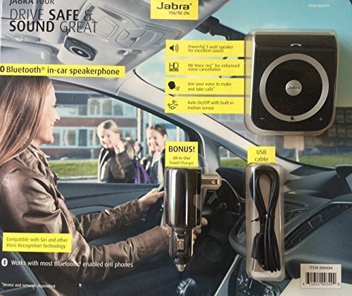 NIB JABRA TOUR Bluetooth Speakerphone & All-In-One Charger