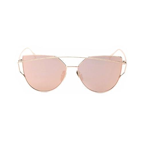 New Energy - Gafas de sol - para mujer oro rosa