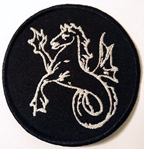 Alchemical symbol Horse - Fish, medieval symbols, Odin, German, Viking Norse ornaments, celtic ornaments, druidic symbols, Marvel comics, Embroidered Patch, BUY 3 GET 4, 3,2 X 3,2 (Inches)