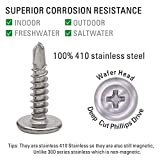Jetovo 150 Pack 410 Stainless Steel Wafer Head