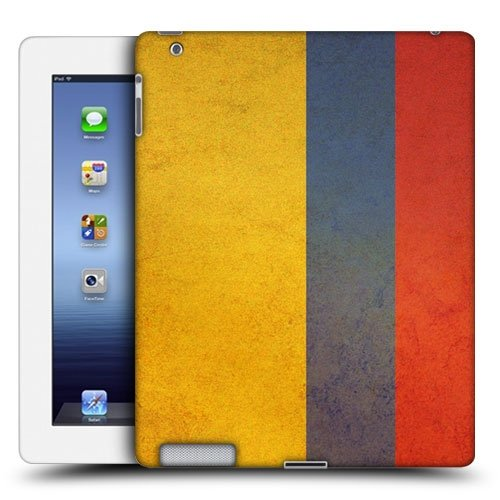 Head Case Designs Colombia Colombian Vintage Flags Protective Snap-on Hard Back Case Cover for Apple iPad 3 iPad with Retina Display