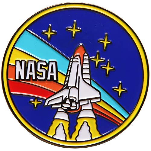 Nasa Retro Rocket Enamel