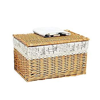 Image of Home and Kitchen Allenrous Storage Box with Lids,Cube Basket Bin for Laundry, Toys, Clothes, DVDs, Books, Food, Bedding (Color : B, Size : 503530cm)
