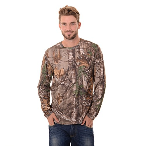 Review Realtree Men's Long Sleeve Performance T-Shirt, Large, Realtree Xtra