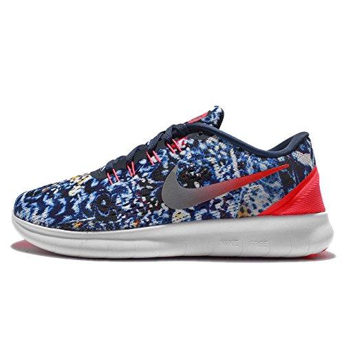 Les Wmns Rn Libre Nike Femmes Chaussures Rf E En Cours D'exécution Bleu