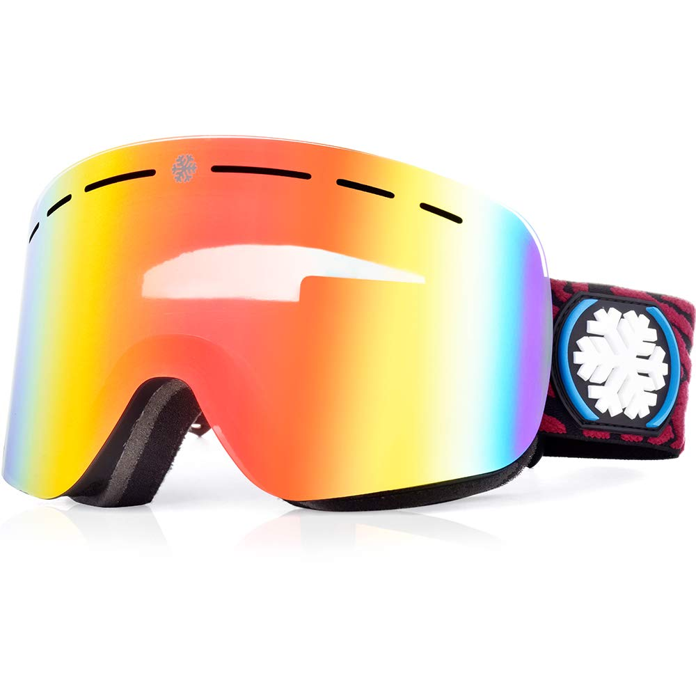 6629bea4919e Snowledge Ski Goggles Men s with Frameless Interchangeable Lens ...