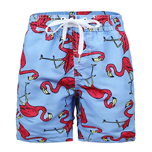 Kute 'n' Koo Boys Swim Trunks, UPF 50+ Quick Dry Boys Swim Shorts for Big Boys and Toddlers, Size from 2T to 18/20 (10/12, Flamingo)]()