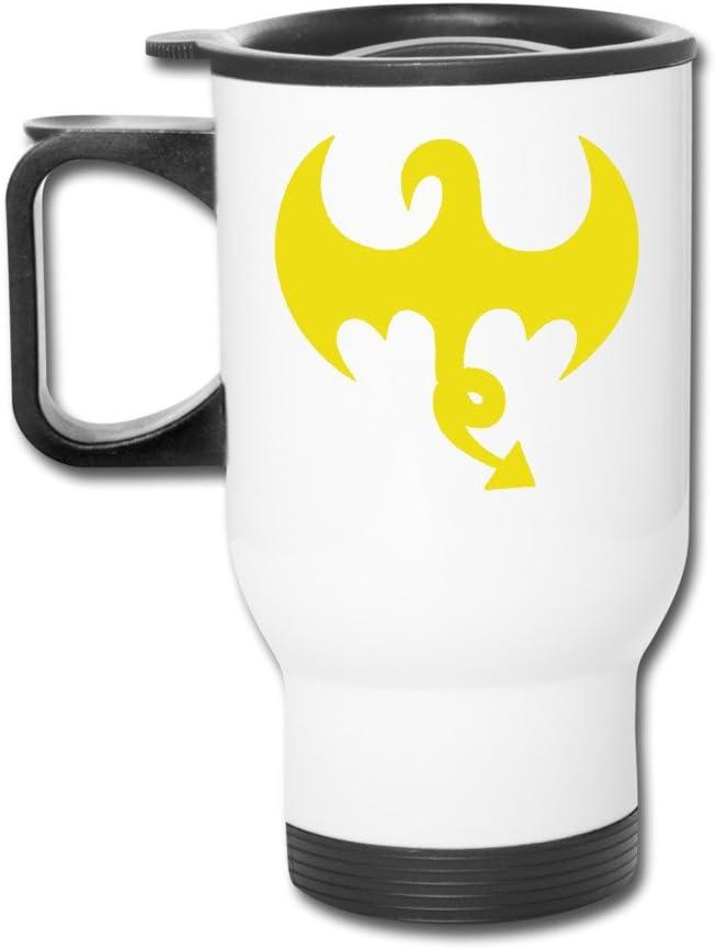 Puño de Hierro Dragon Logo blanco con aislamiento tazas con ...