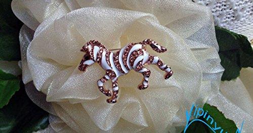 Year of the Horse mascot Korean brooch rhinestone brooch pin black and white zebra buy two get -
