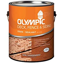 OLYMPIC/PPG ARCHITECTURAL FIN 58805A/01 WD Deck Stain, 1 gallon, Red