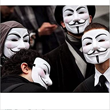 Anonymous Mask - Guy Fawkes V for Vendetta