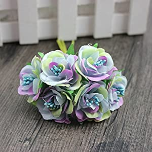 6 Pcs/LotMini Silk Daisy Artificial Rose Flowers Bouquet DIY Wedding Decoration Paper Flower For Scrapbooking Flower 5