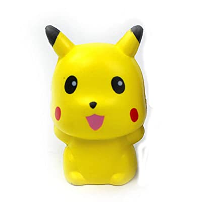 Cute Squishy Toy Animal Bird Cat Pig Kawaii Slow Rising Squishies PU Soft Cream Scented Squeeze Relief Toy Gift (Pikachu)