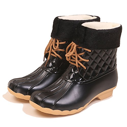 High Slip Ankle Rain Ladies Women's Black Design Boots 1560 On Booties Elastic Short Lining fleece Winter Wfv1Atg