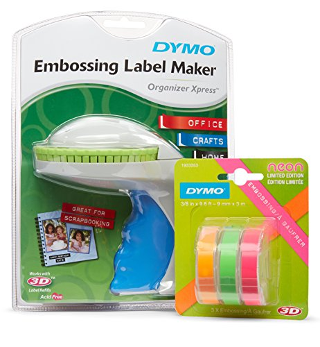 DYMO Organizer Xpress Embossing Label Maker with 3 Bonus