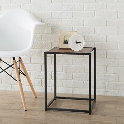 Brass Side Table (Zinus Modern Studio Collection Classic Cube Side Table / End Table / Night Stand / Coffee)
