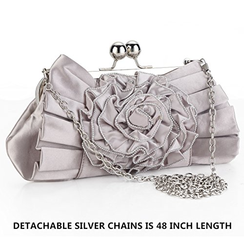 Satin Crossbody Bag Shoulder Bags in Baby Pink for Women Evening Wedding Clutch Purses And Handbags -