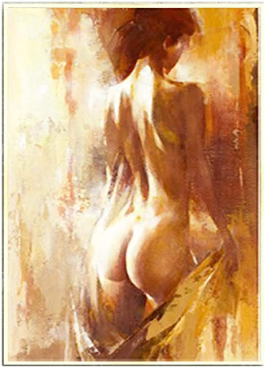 Naked Nude Woman Back Body Booty Half Lady Sexy Oil Painting Canvas 100 Handmade Abstract Body Art Special Decorative Wall Artwork For Hotel Entertainment Clubs Ktv 15 7x23 6 Amazon Ca Home Kitchen