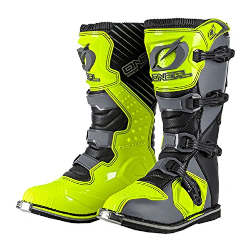 Oneal Rider EU Motocross botas Gray Hi-Viz
