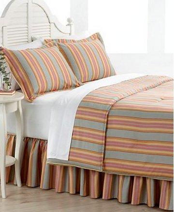 Ralph Lauren Rhys Stripe Queen Comforter Bed In A Bag Set - Yellow Ralph Bag Lauren