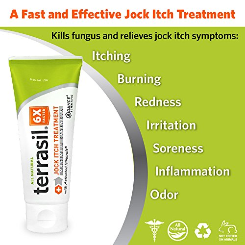 Jock Itch Treatment MAX - 6X Faster Than Leading Brands Dr. Recommended 100% Guaranteed All Natural Antifungal...