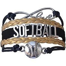 Softball Infinity Charm Bracelet- Girls Softball Jewelry - Perfect Softball Player, Team and Coaches Gifts