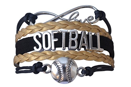 Softball Bracelet- Girls Softball Jewelry - (12 Styles)Perfect Softball Player, Team and Coaches Gifts