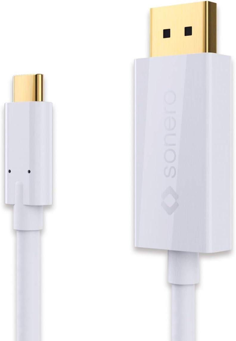 USB-C zu DisplayPort CableCreation Typ C DP Alt Modus F/ür MacBook Pro//Chromebook Pixel Schwarz 4K * 2K @ 60Hz zu DisplayPort Kabel 6 Fu/ß //1,8 M Stecker auf Stecker Thunderbolt 3 kompatibel