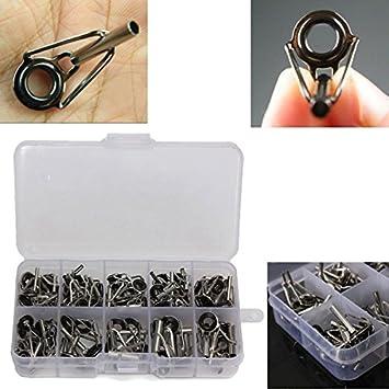 80 Stücke Angelrute Guide Tip Repair Kit DIY Auge Ringe Edelstahlrahmen
