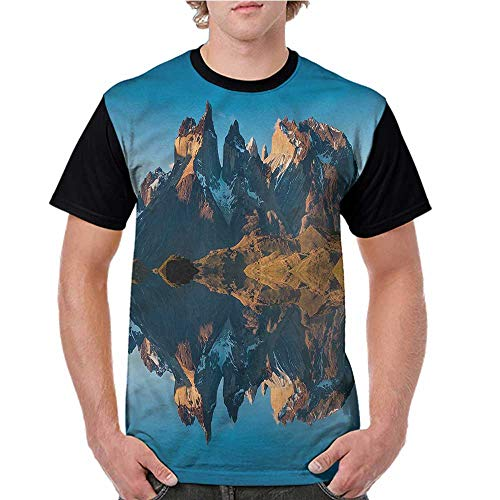 Women's Short Sleeve,Nature,Majestic Rocky Mountain S-XXL Casual Shirts ()